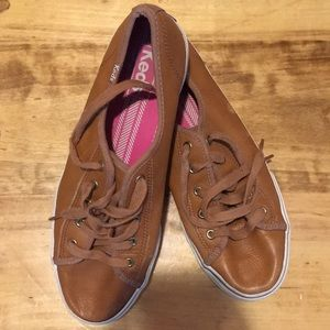 Brown Leather Keds size 8.5